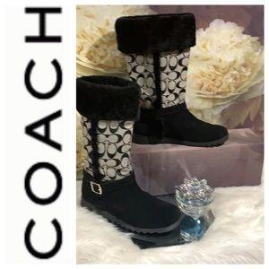Coach logo boots